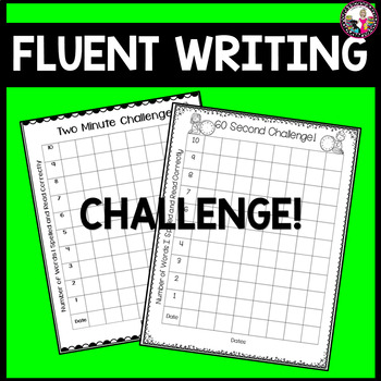 60 Second Challenge!  Writing Spree for Early Readers & Writers!