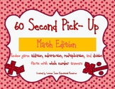 60 Second Pick-up Math Facts Review Game