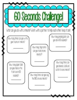 60 Seconds Challenge Ice Breaker - Partner Game