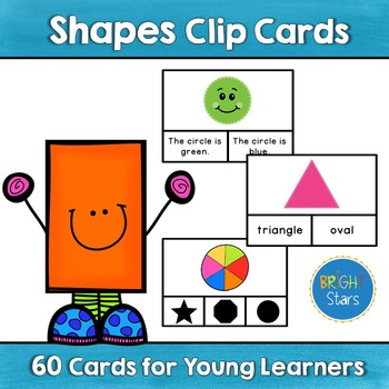 60 Shapes Clip Cards including Answer Key