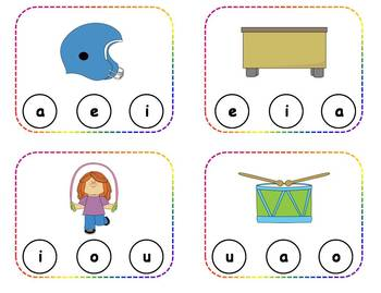 60 Short Vowel Clothespin Task Cards