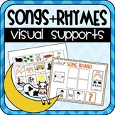 60 Song Visuals and Choice Boards for Special Education (Autism)