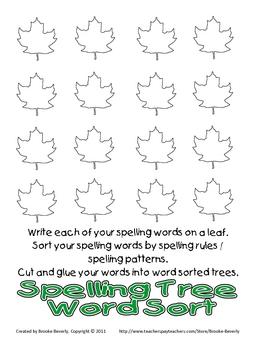 60 Spelling Homework Assignments for Any List!