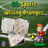 60 Sports Writing Prompts: Sports Writing Task Cards: Spri