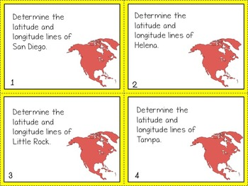 60 Geography Task Cards: North America