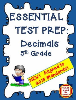 60 Test Prep Questions for 5th Grade: Decimals—Based On 2016 Standards