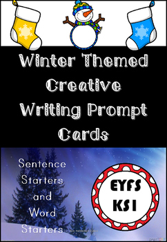 Winter Themed Creative Writing Story Prompt Cards for Early Years