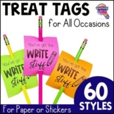 60 Treat Tags for Student Rewards: Testing, Back to School, Holidays, & More