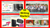 60 WRITING WARM UPS/ BELL RINGERS -for English & literacy.