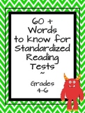 60+ Words to Know for Reading Standardized Tests
