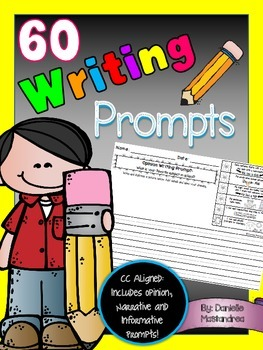 60 Writing Prompts {Common Core Aligned}