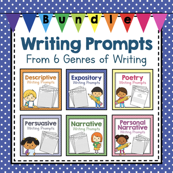 85 Writing Prompts from 6 Genres of Writing