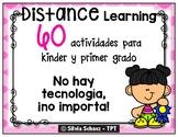 60 actividades para kinder y primer grado - Distance Learning