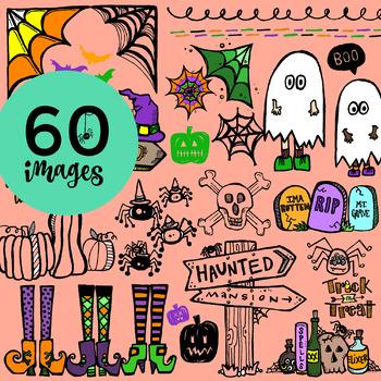 60 Kid's Halloween Clip-Art