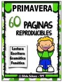 60 reproducibles de primavera ¡En español! Distance Learning
