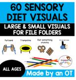 60 sensory diet visuals .... includes large  + small visua