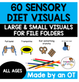 60 sensory diet visuals .... includes large  + small visua