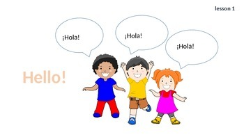 60+ slides teaching name, age, numbers 1 to 10 and more in Spanish.
