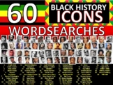 60 x Black History Month Famous People Icons Wordsearches