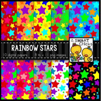 Background Paper - Rainbow Stars Bundle