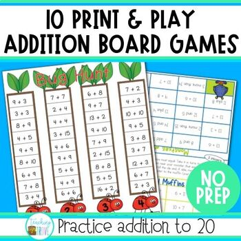 Addition Games - Addition to 20