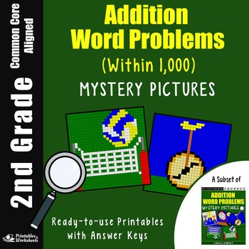 2nd Grade Addition Word Problems Within 1,000