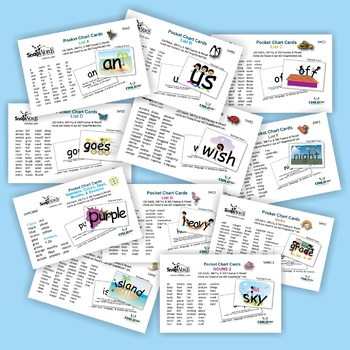 607 SnapWords® Sight Word Pocket Chart Cards