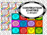 153 Conversation starter cards (2 sets) - great for social