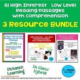 61 High Interest: Low Level Reading Passages - Bundle