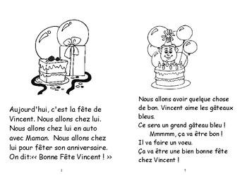 61) La fête de Vincent livret de lecture ENFANT C1 1ère-2e