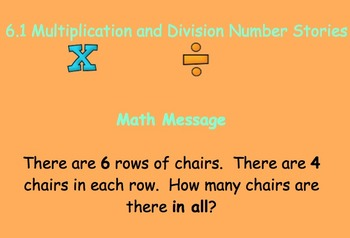 6.1 Multiplication and Division Number Stories - Everyday