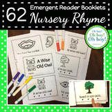 62 Nursery Rhyme Emergent Reader Booklets