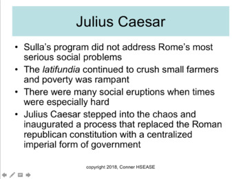 61 SLIDES-Roman Empire, Medieval Europe and Julius Caesar Introduction PPT