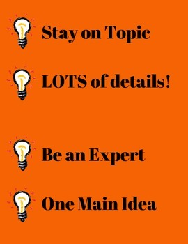 6+1 Traits of Writing Book Posters with Strategy Strips
