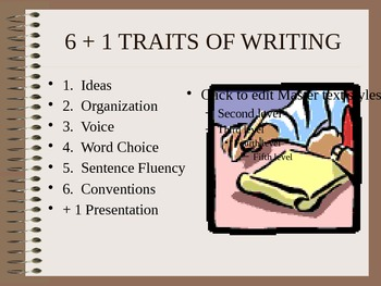 6+1 Traits of Writing PowerPoint