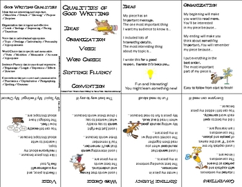 6 Writing Traits Mini Booklet in Kid Friendly Language