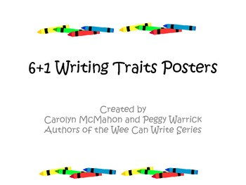 6+1 Writing Traits Posters for Primary Learners