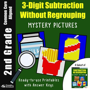 2nd Grade 3-Digit Subtraction Without Regrouping