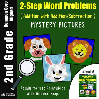 2nd Grade Addition And Subtraction 2 Step Word Problems Coloring Pages