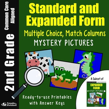 Standard Form Word Form Expanded Form Matching, 2nd Grade Place Value Sheets