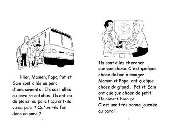 62) C'est amusant au parc d'amusements livret de lecture ENFANT C1 1ère-2e