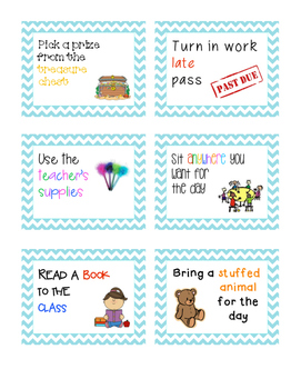 62 Cute and Creative Classroom Prize Coupons