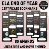 60 End of Year Certificates   ELA Award Bookmark Awards   Keepsakes   Editable