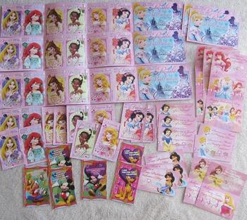 VALENTINES CARDS 62 DISNEY princess Snow White Cinderella Mickey Mouse Incl ship