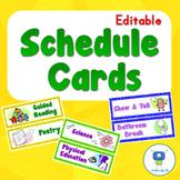 62 Schedule Cards (EDITABLE)