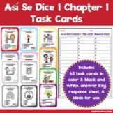 Así Se Dice Chapter 1 Spanish Task Cards | Cómo Somos Dist