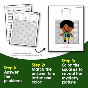 2nd Grade Place Value Blocks Activities, Matching and Counting Mystery Pictures