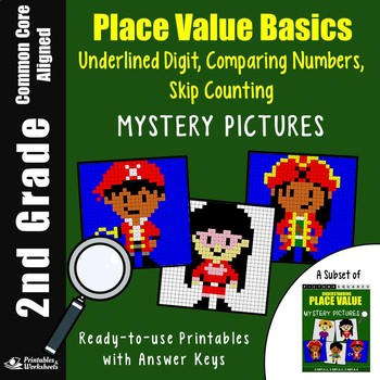 Skip Counting Worksheets, 2nd Grade Place Value Stations Mystery Pictures