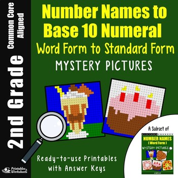 2nd Grade Number Names To Base 10 Numeral Standard Form To Word Form