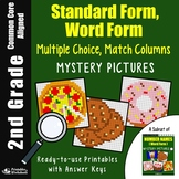 2nd Grade Place Value Expanded Form Word Form Matching Mystery Pictures